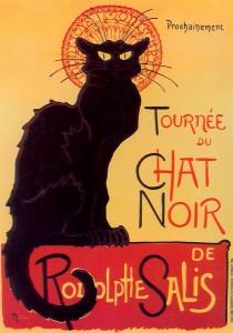 Cartel del autor Steinlen, El gato negro