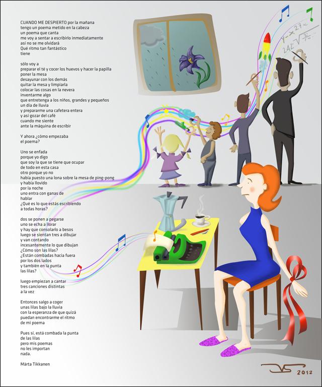 ilustracion digital Cuando me despierto Photoshop Poesi de Märta Tikkanen © Jose Vicente Santamaria - Valencia.jpg