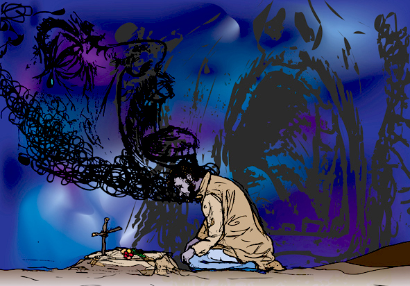 ilustracion digital CRISIS Ilustrator 05 © Jose Vicente Santamaria Valencia