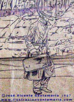A MAL TIEMPO Detalle dibujo final ilustración tradicional © Jose Vicente Santamaria Valencia Spain