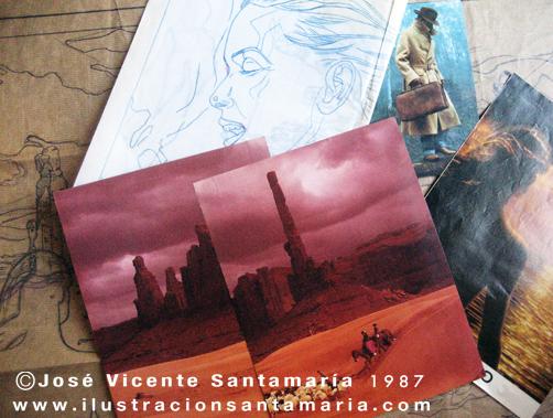 Referencias fotos lustracion A MAL TIEMPO 1987 © Jose Vicente Santamaria Valencia Spain