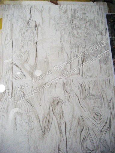 Puerta 01 Veteado de la madera b 2010 © José Vicente Santamaría – Valencia – Spain