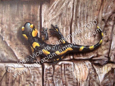 Detalle de una de las salamandras PUERTA 01 2010 © José Vicente Santamaría – Valencia - Spain