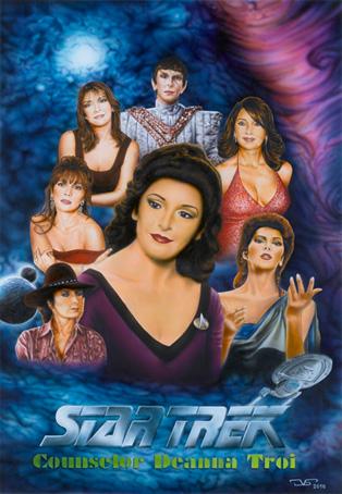 Star Trek Consejera Diana 65 x 45 Gouache, anilinas y tintas aerográficas. 2010 &copy Jose Vicente Santamaria